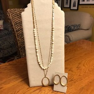 Two Stella & Dot Necklace Set